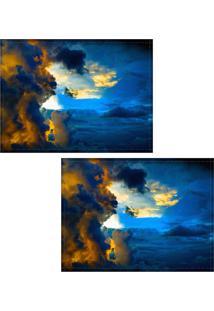 Jogo Americano Colours Creative Photo Decor - Céu Com Nuvens - 2 Peças