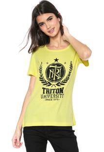 Camiseta Triton Lettering Amarela