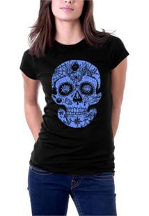 Camiseta Hshop Caveira Mexicana Preto