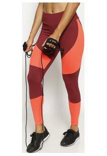 Body For Sure Legging Com Elã¡Stico Bordã´ & Laranja