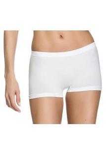 Calcinha Boxer Zee Rucci Básica Sem Costura Branco
