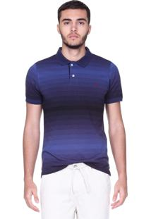 Camisa Polo King&Joe Degradê Azul/Roxo