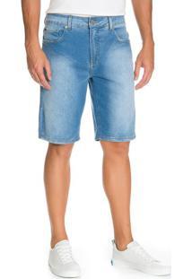 Bermuda Jeans Five Pockets Azul Claro - Azul Claro - 36