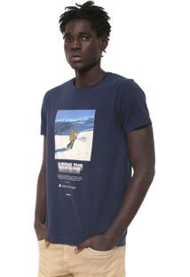 Camiseta Osklen Vintage Azul-Marinho