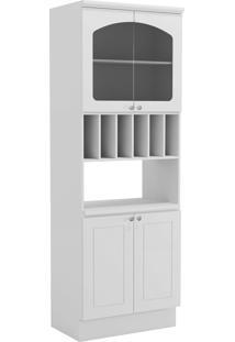 Módulo Para Microondas Kappesberg 4 Portas 4 Prateleiras Branco