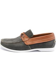Docksider Casual Moderno Magi Shoes Confortável Musgo
