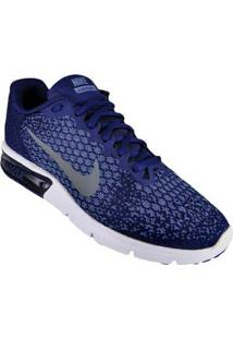 Tenis Azul Escuro Air Max Sequent 2 Nike 60310026