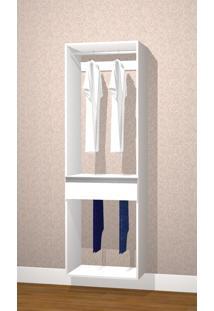 Módulo Com Cabideiro E Calceiro Kt622 Branco - Getama Móveis