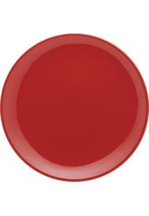 Conjunto 6 Pratos Rasos Oxford 26Cm Cerâmica Unni Red Vermelho