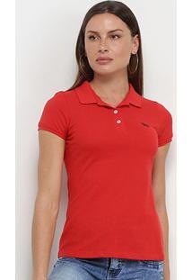 Camisa Polo Acostamento Feminina - Feminino-Laranja