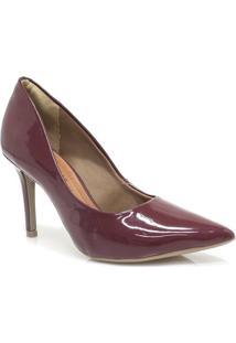 Sapato Ramarim Scarpin Verniz - Feminino-Vinho