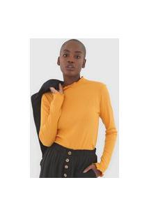 Blusa Fiveblu Canelada Amarela