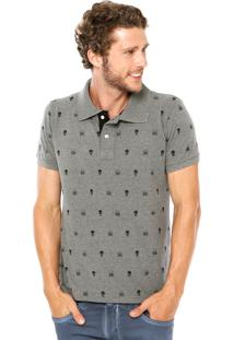 Camisa Polo Local Caveira Cinza