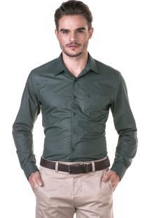 Camisa Docthos Manga Longa Verde Musgo