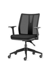 Cadeira Addit Assento Crepe Preto Com Base Piramidal Em Nylon - 54103 Preto