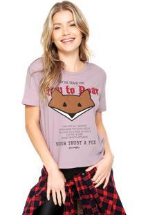Camiseta Ellus 2Nd Floor Fine Roar Rosa
