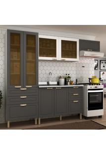 Cozinha Completa 4 Peã§As Americana Multimã³Veis 5679 Branco/Grafite - Branco/Incolor - Dafiti
