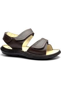 Sandália Doctor Shoes Comfort 917301 - Masculino-Marrom