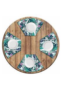 Jogo Americano Love Decor Para Mesa Redonda Wevans Paradise Kit Com 4 Pçs