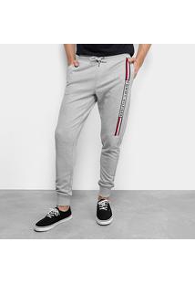 Calça Tommy Hilfiger Jogger Basic Branded Sweatpants Masculina - Masculino-Cinza