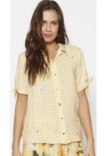 Camisa Com Bordados - Amarela & Pretalez A Lez