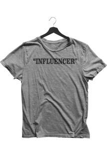 Camiseta Jay Jay Básica Influencer Cinza Mescla Dtg