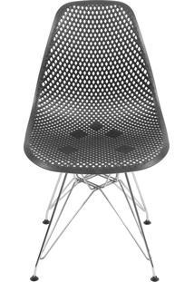 Cadeira Colmeia Com Base Em Metal Bálcãs – Preto