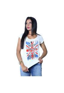 Camiseta Heide Ribeiro Keep Calm It'S A Boy Off White
