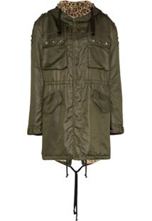 Faith Connexion Parka Com Forro Animal Print - Verde
