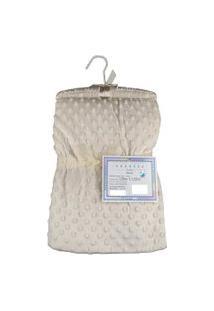 Cobertor Para Bebê Microfibra De Bolinhas 1,50M X 1,00M Com Cabide Sweet Baby - Marfim