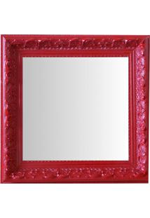 Espelho Moldura Rococó Raso 16148 Vermelho Art Shop
