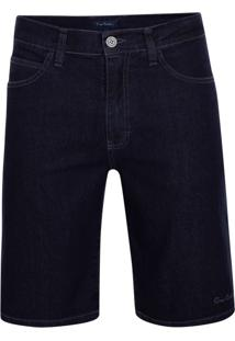 Bermuda Jeans Azul Com Lycra