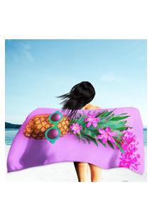 Toalha De Praia / Banho Abacaxi Moderno Único