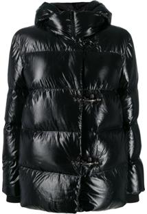Fay Quilted Puffer Jacket - Preto