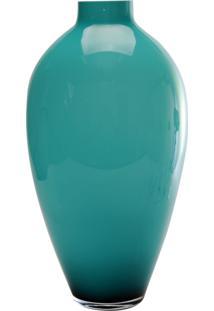 Vaso Bianco E Nero 55X30Cm Verde