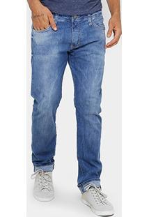 Calça Jeans Skinny Colcci John Indigo Estonada Masculina - Masculino