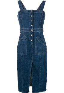 Three Floor Vestido Posh - Azul
