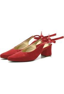 Sandália Chanel Dududias10 Laço Feminina - Feminino-Vermelho