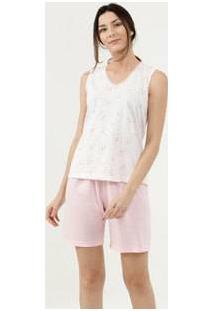 Pijama Feminino Estampa Floral Laço Marisa