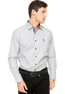 Camisa Aleatory Floral Branca