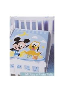 Cobertor Disney Jolitex Para Bebê Azul