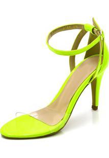 Sandália Santo Fino Gisela Costa Amarelo Neon - Tricae