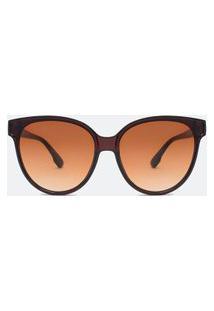 Óculos De Sol Feminino Redondo | Accessories | Marrom | U