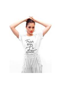 Camiseta Feminina Mirat Tranquilidade Branca