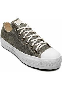 Tênis Converse All Star Chuck Taylor Platform Lift Ox Ouro Claro Ct12810002 - Tricae