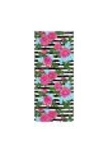 Adesivo Decorativo De Porta - Flores - 1998Cnpt
