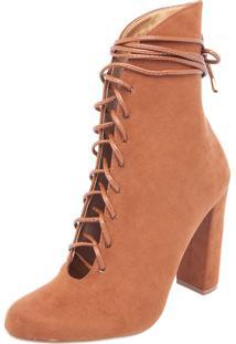 Bota Dafiti Shoes Suede Caramelo