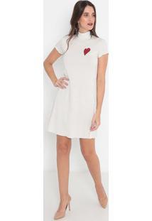 Vestido Listrado- Off White & Dourado- Malweemalwee