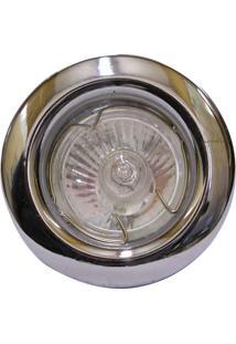 Spot Dicróica Fixo Aço Com Pintura Eletrostática Mr16 50W 127V Cromado