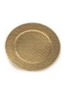 Sousplat Mesa De 33Cm Dourado